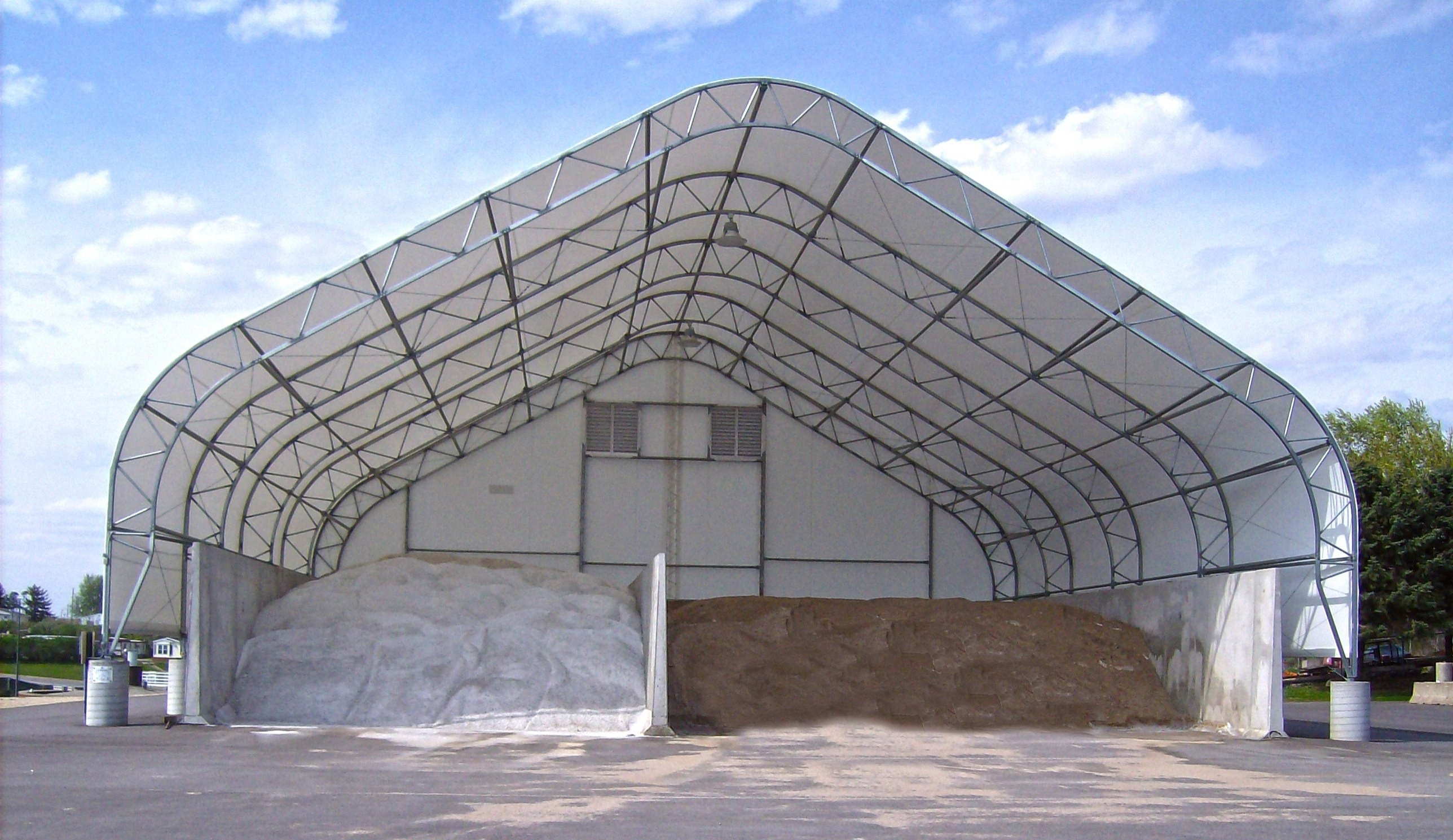 Salt Storage Building on Piers